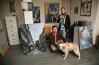 067 Thomas H Eiffert mit Hund und Detlef Zaremba