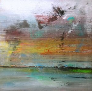 """""""Relief Series, 1"""", 2021, Acryl/Leinwand, 120 x 120 cm"""
