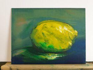 Zitrone in Öl ( auf Leinwand )