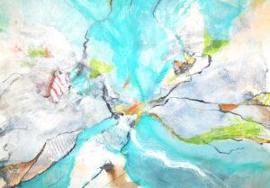 Abstrakte Komposition in Blau